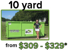 10 yard from $300 - $540*