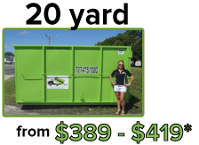 20 yard from $340 - $570*